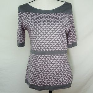 NEW YORK & COMPANY Pink & Gray Top, size M